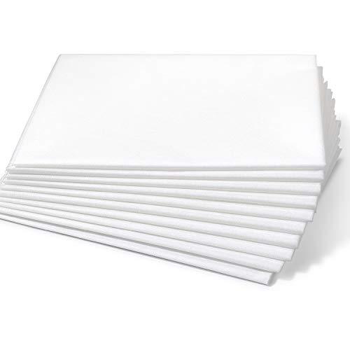 Dr. Güstel Waschfaserlaken ® CLASSIC weiß 120 x 210 cm 5 Stück STANDARD 100 by OEKO-TEX®-zertifiziert DAS ORIGINAL Waschvlies Auflage für Behandlungsliege Massageliege