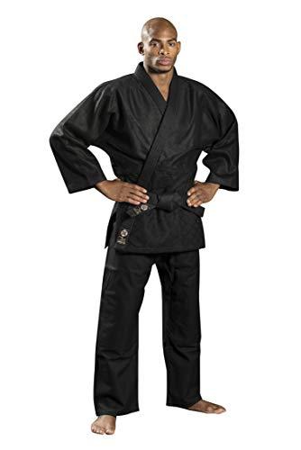 Ronin Brand Judo/Ju-Jitsu-Anzug – Kampfsport Gi für Kempo, Kendo, BJJ, Karate, Grappling, Aikido, Aiki-Jujitsu, Unisex, schwarz, 7