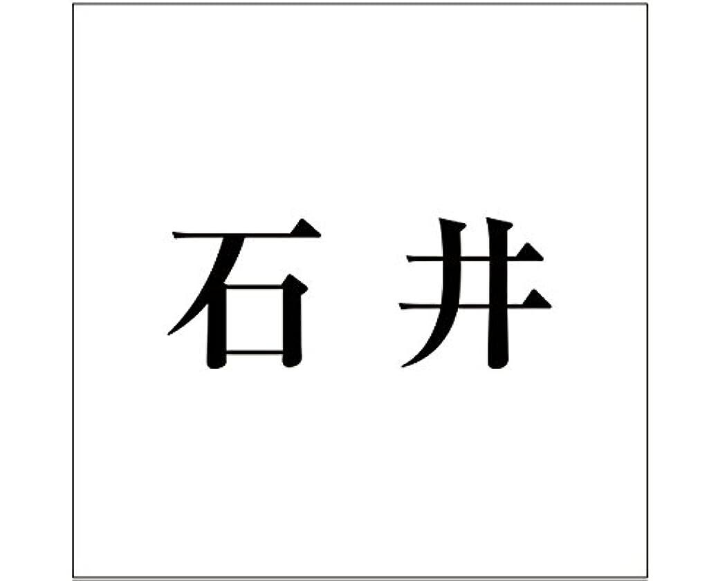 遅滞東部テナント切文字 カッティングシート 明朝文字 ????? 200×200mm表札板用 石井 オーダーメイド 納期8営業日