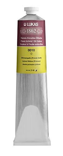 Lukas 1862 Oil - Pintura al óleo (200 ml), color amarillo limón