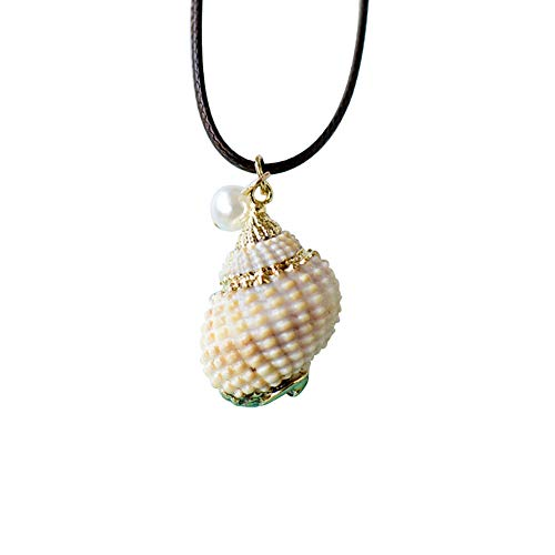 Demarkt Collar de Concha de Dama de Moda Collar de Concha Marina Concha Natural Dorada Estilo Marino 20 Estilos Disponibles