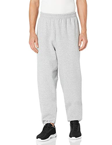 Hanes Men's EcoSmart Fleece Sweatpant, Light Steel, XL