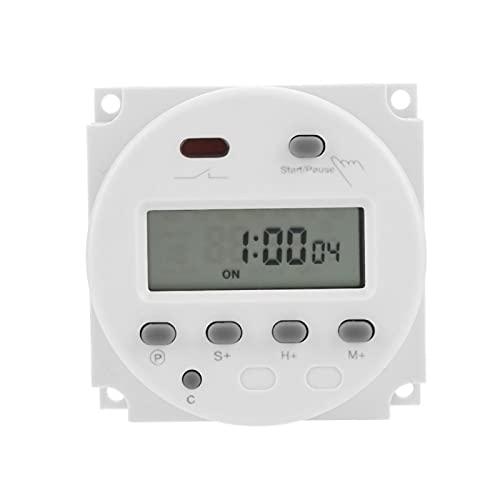 Temporizador digital, temporizador de ciclo digital estable y duradero Temporizador de ciclo LCD Temporizador de ciclo para envejecimiento en estufa industrial(12V)