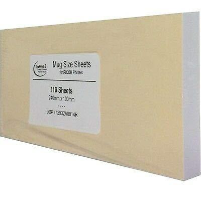 Sublimet Sublimation Solutions Papel TexPrint-R para Ricoh y Sawgrass - 110 Hojas para Tazas