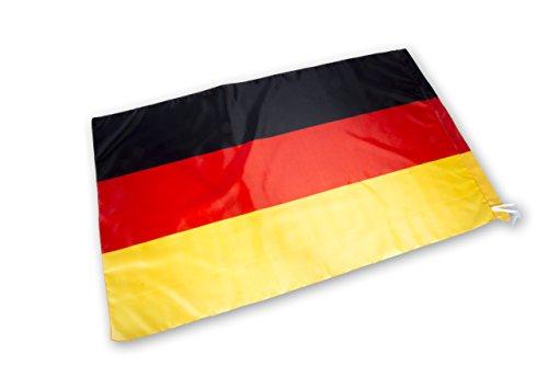 2 x Deutschland Fahne – Flagge Germany – 120 cm x 75 cm – Schwarz Rot Gold - Fanartikel