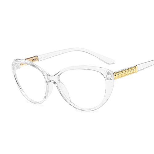 Occhiali da Sole Ladies Round Fashion Full Full Full Frame Vintage Cat Eye Glasses Blocco per Le Donne Specchio Piatto Multiplo (Frame Color : Trans Gray)