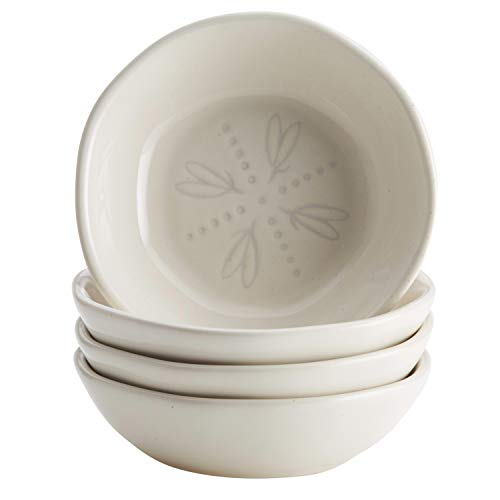 Ayesha Curry Ceramic Dipping Bowls for Sauces, Spreads, and More, 5 Ounce, 4 Piece, French Vanilla