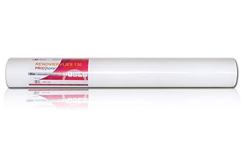 1 Rolle 25 Meter Malervlies Renoviervlies glattes Vlies Objektvlies Vliestapete zum Überstreichen weiß 130 g | 18,75 qm - 4