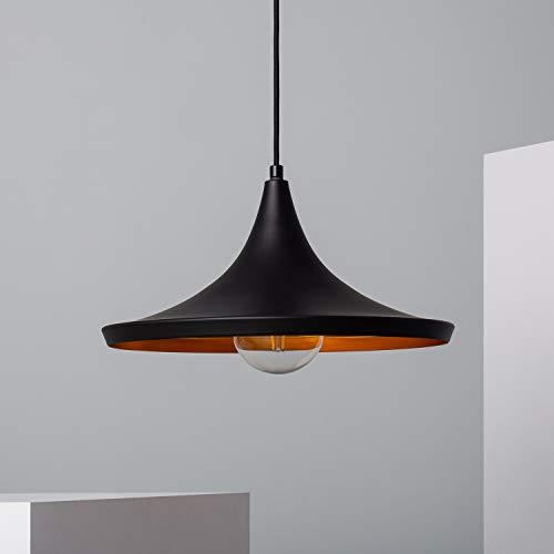 LEDKIA LIGHTING Lámpara Colgante Presley Ø350x180x1555 mm Negro E27 Casquillo Gordo Aluminio Decoración Salón, Habitación, Dormitorio