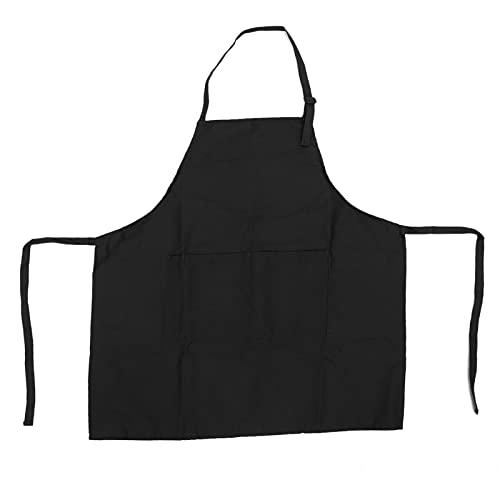 Delantal para hornear, delantal para barbacoa 31.3 x 25.8in para jardinería para cocina casera para chef(negro)