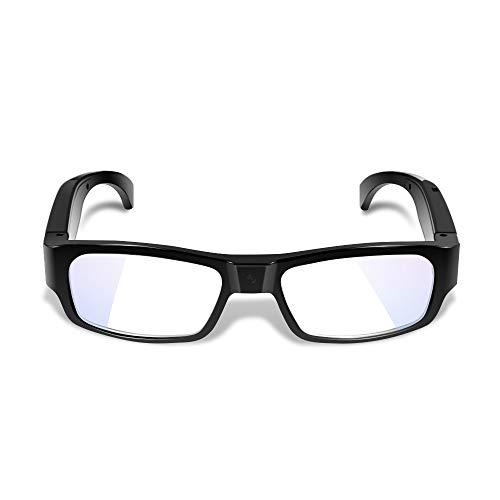 WISEUP 1080P HD Oculto Gafas Cámara - Oculto Usable Agujerito Cámara con Tarjeta de Memoria de 16GB Incorporada