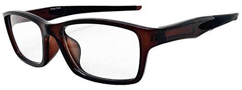 Face Trick glasses カッコいい・かけやすい老眼鏡 TR-90スポーティフレーム ストレートテンプル UV410クリア老眼鏡レンズ/ブルーライトカット鯖江メーカー高性能レンズ老眼鏡 ブラウンフレーム RGC6127-2 +1.00