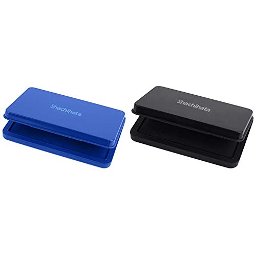 【セット買い】シヤチハタ スタンプ台 HGN-3-B 大形 藍 & シヤチハタ スタンプ台 HGN-2-K 中形 黒