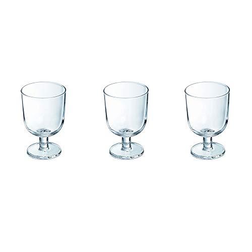 - pack de 3 verres à pied 25 cl guinguette (lot de 2)