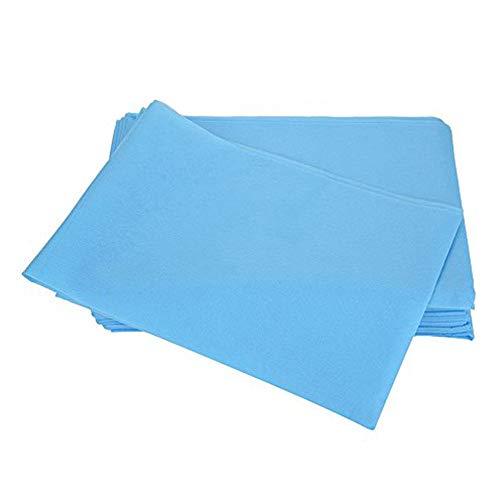 10 Stücke 175 x 80 cm Waschfaserlaken, Spa Einweg Bettwäsche Schönheitssalon Massage Nicht Woven Wasserdichte Anti-Öl(Blau)