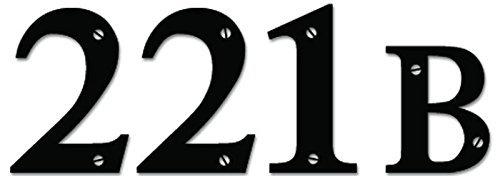 SUPERSTICKI 221B Baker Street Sherlock Holmes - [6 inch/15 cm Wide] - Aufkleber Auto,Scheine,Lack,Motorrad,Wand