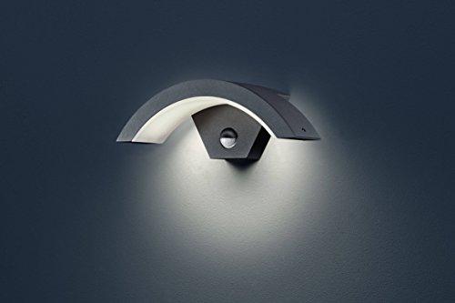 Trio Leuchten LED Außen Wandleuchte Ohio 220969142, Aluminiumguss Anthrazit, 6 Watt LED, IP54, Bewegungsmelder
