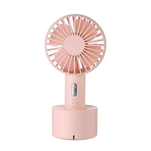 Simple Estilo Ventilador de Mano, Ventilador pequeño al Aire Libre Conveniente, Base Recargable, Ventilador de Mesa pequeña, 10 x 7,6 x 19.9cm, b,Mano (Color : B)