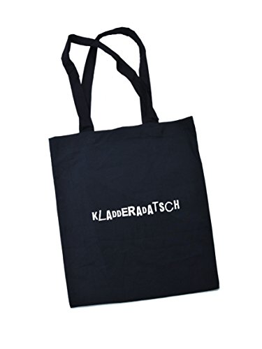 Jutebeutel bedruckt mit Berliner kladderadatsch - / Stoffbeutel / Jute Beutel / Einkaufsbeutel Baumwolle mit Sprüchen von SPREE Klamotte Berlin - Statement Sprüche Tasche - schwarz