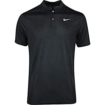 Nike Men s Nike Dri-fit Victory Blade Polo Black/White Large