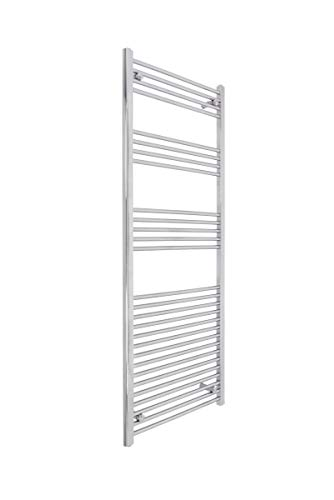 Electric Heated Bathroom Towel Rail Warmer Radiator - Chrome - 1600 x 600 mm