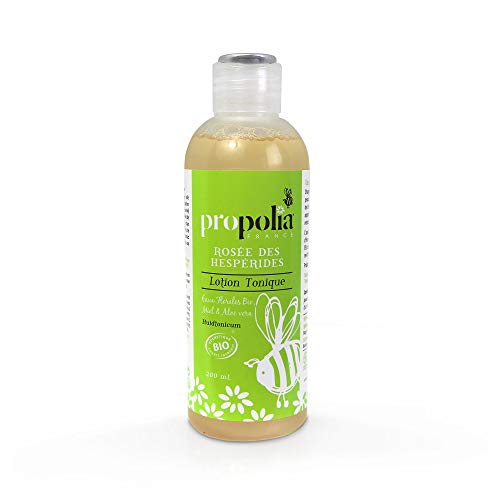 Lotion Tonique Bio - ROSEE des Hesperides - Propolia - Eaux Florales Bio - Miel Bio - Aloe vera - 200 ml