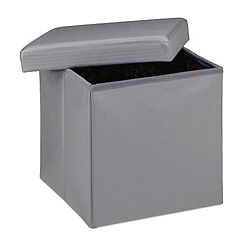 Taburete almacenaje, baúl almacenaje pequeño y Plegable, C