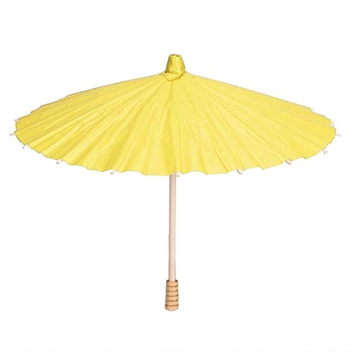 Alte Tanz Regenschirm Papier Regenschirm bunten chinesischen Stil Kinder Öl Papier Regenschirm DIY Malerei Handwerk wetterfest zu gelb