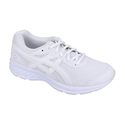 [アシックス] レーザービーム 1154A062 キッズ スニーカー 001 100 ブラック ホワイト ランニングシューズ 消臭 通学 部活 運動靴 子供靴 男の子 女の子 [100] ホワイト/ホワイト 22.0cm