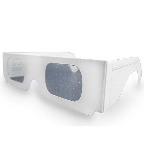 Premium Weddings Herzbrille weiß 10 Stück - Effektbrille Herzen Hochzeit Silvester Valentinstag - Partybrille mit Herzeffekt für Feuerwerk Tischfeuerwerk Tortenfontäne Wunderkerzen