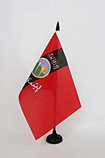 AZ FLAG Pashtuns Table Flag 5'' x 8'' - Afghans and Pathans Desk Flag 21 x 14 cm - Black Plastic Stick and Base