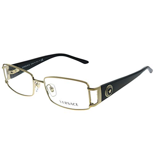 Versace VE 1163M 1252 Pale Gold Metal Rectangle Eyeglasses 52mm
