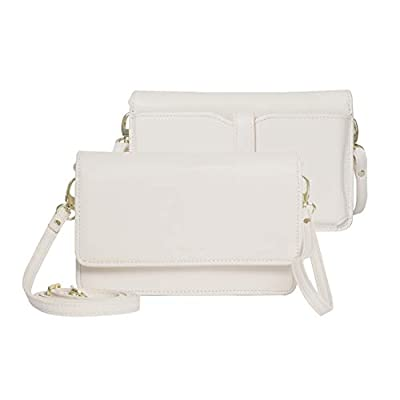 Womens Small Crossbody Bags Premium Leather Purses and Handbags Wristlet Wallet with Phone Pocket and Card Slots