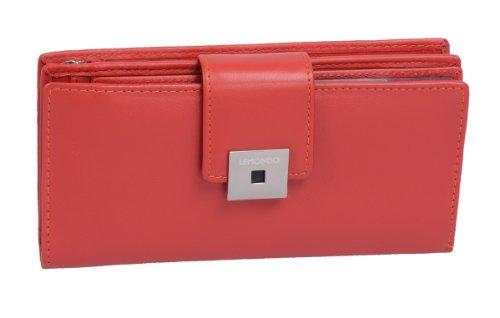 Damenlangbörse LEMONDO in Echt-Leder, rot