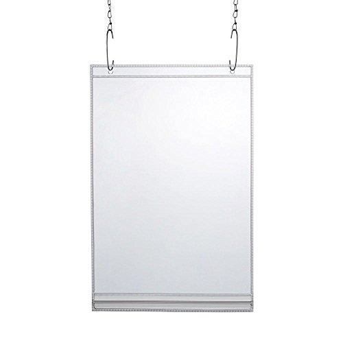 20 x wasserdichte Plakattasche DIN A4 Hochformat / Sichttasche / mit 2 Bohrungen / transparent