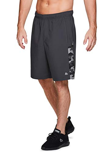RBX Active Men's 9-Inch Inseam Stretch Woven Athletic Basketball Gym Shorts with Pockets