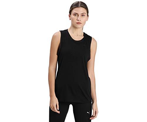 PUMA Studio Burnout Tank Camiseta De Tirantes, Mujer, Black-Burn out Print, S