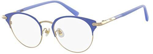 MCM MCM2126A - Gafas de Sol de Metal Shiny Gold/Blue Unisex para Adulto, Multicolor, estándar