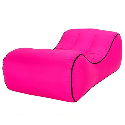 LOCYOP - Sedia gonfiabile da spiaggia portatile con borsa per il trasporto, ideale per il divano, per balcone, ufficio, campeggio, sacchi a compressione, ergonomici, senza pompa (viola)