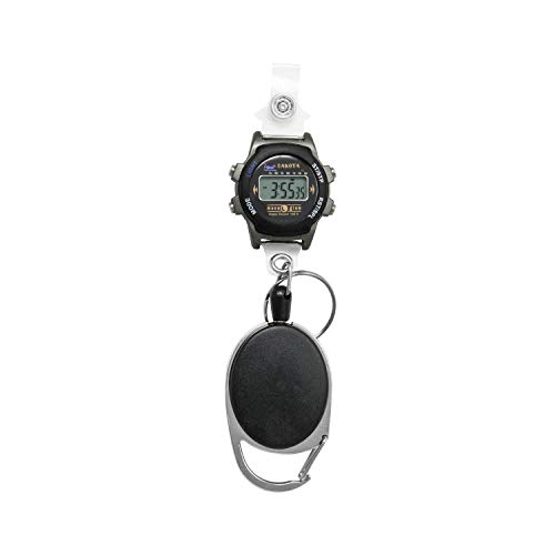 Dakota Clip On Carabiner Water Resistant Retractable Digital Watch and ID Badge Holder (Model: 36552)