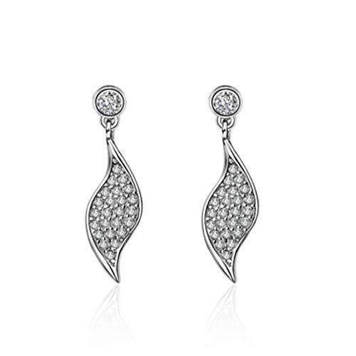 Pendientes de tuerca para niñas, joyería para mujer, pendientes de plata de moda 925, pendientes de perforación con diseño de cola de zorro de princesa