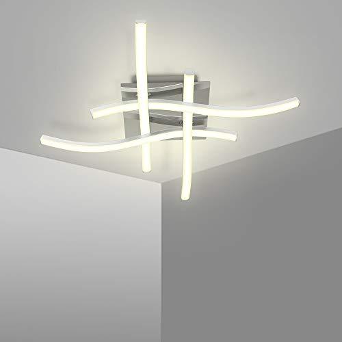 Lámpara de techo LED de 25 W, 4 focos, 5500 K, lámpara de salón, IP21, adecuada para salón, dormitorio, pasillo