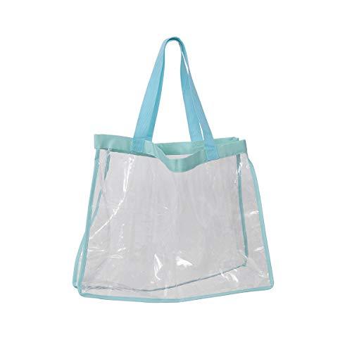 TENDYCOCO Shopping Bag Clear Tote Sacchetto di immagazzinaggio Impermeabile Portatile Multiuso Borsa a...