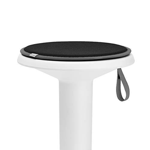 Interstuhl® UPis1 Premium Sitzkissen - Besonders bequemes Stuhlkissen perfekt geeignet für Hocker, Stühle, Bänke und Fußböden (Standard Edition, Tiefschwarz)