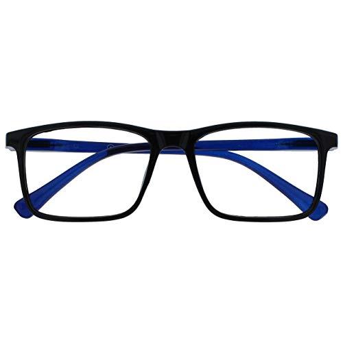 Opulize Ink Gafas De Distancia Corto De Vista Miopía Grande Negro Hombres Mujeres Bisagras Resorte M4-1 -2,50