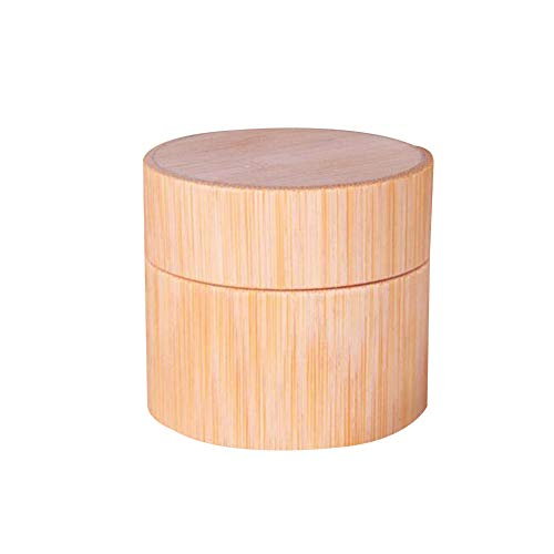 2Set kreative Handarbeit Bambus Jars Gesichtscreme Container-Halter Pot Vials Tragbarer nachfüllbar Lippenbalsam Lotion Ätherische Öle Lagerung DIY Schönheits-Werkzeug