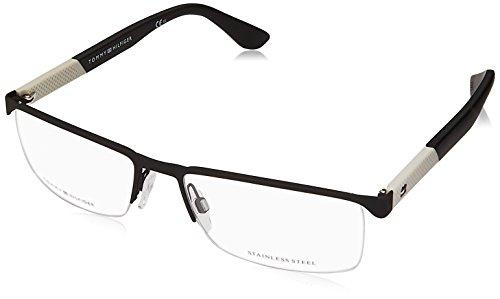 Tommy Hilfiger TH 1562 003 56 Gafas de sol, Negro (Matt Black), Hombre