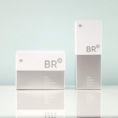 Set Crema hidratante facial + Serum facial | BR Cosmetics | Acido hialuronico | Loto crema hidratante ácido hialurónico 50ml | Loto serum de oro con células madres 30ml | Crema antiarrugas.