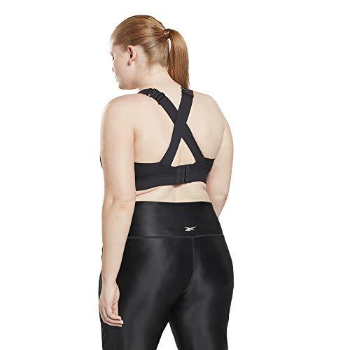 Reebok Women Standard PureMove+ High Impact Sports Bra, Black, Large