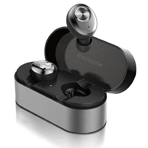 HUANGDA HUANGDAED30 Casque sans Fil, Bluetooth Headset 15H TWS3D Stéréo Bluetooth 5.0 Real Casque sans Fil avec Microphone, écouteurs sans Fil, avec boîtier de Recharge sans Fil Portable